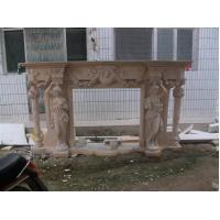 Buy cheap white marble fireplace with lady product