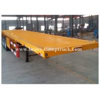 Buy cheap Four Axles Low Bed Semi Trailer For Transport Containers , 40 Tons Loading Capacity product