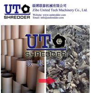 China hot sale Double shaft paper shredder crusher - paper package tube, cardboard barrel recycling shredder  paper crusher on sale