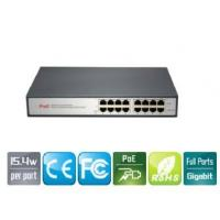 Buy cheap 8-Port  Gigabit PoE Injector Adapter IEEE 802.3af For IP Security Cameras product