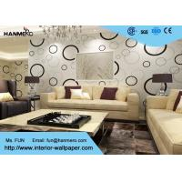 Buy cheap Geometric Non - woven Modern Removable Wallpaper with Black and White Circles product