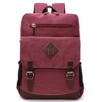 Reusable 13 Inch Laptop Bag / Red Canvas Laptop Backpack Lightweight