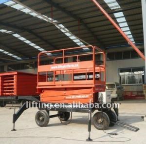 Buy cheap 1000kgs 3000kg Electric scissor lift platform with diesel / electrical power product