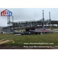 Buy cheap Outdoor Stage Showing Triangular Truss System , Lift Towers Aluminum Box Truss product