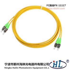FC duplex APC/UPC/SM G652D 9/125 fiber optic patch cords made of advance ceramic ferrule