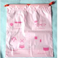 Buy cheap Luxury Women's Plastic Drawstring Cosmetic Bag Customized , Pink product