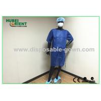 Buy cheap PP SMS Material Surgical Gown with Ultrasonic Heat Seal White / Blue Color product