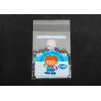 China Clear Plastic Display Self Adhesive Poly Bags For Clothing Gloss Finish wholesale