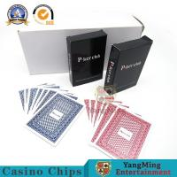 China Texas Poker 100% Waterproof Plastic Playing Cards Luxury Hotel Competition Large Print on sale