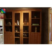 Buy cheap Contemporary Painted Slim Wood And Glass Display Cabinets Furniture For Office product