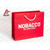 Buy cheap Bright Red Color Personalised Paper Shopping Bags For Business Eco - Friendly product
