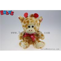 Buy cheap Wholesale Price Plush Giraffe Cuddly Stuffed Toy with Lips Ribbon product