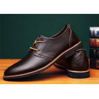 Buy cheap Concise Design Brown Comfortable Casual Shoes With Goodyear Welt Flat Heel product