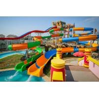 Buy cheap Professional Spiral Water Slide / Big Pool Slides Water Playground Equipment product