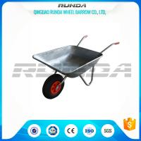 Light Weight Garden Wheel Cart Galvanized Steel Rubber Wheel 80kg Weight Capacity