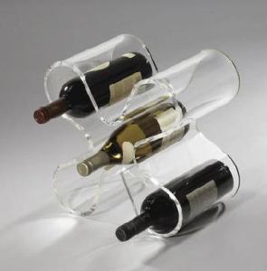 Quality 顧客のロゴの良質5のびんのAcryllicのワインの棚 for sale
