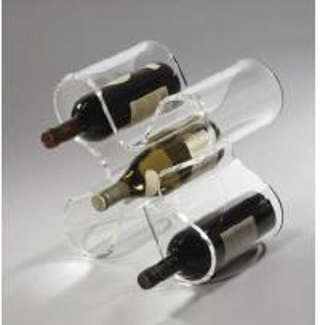 Buy cheap Supports de vin d'Acryllic de bouteille de la bonne qualité 5 avec le logo du client from wholesalers