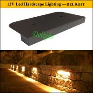 LED Hardscape Wall Light, LED Hardscape Corner Light,12V led door number Paving Wall Light