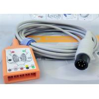 Buy cheap 5 Lead Patient Monitor Ecg Accessories , Holter Ecg Cable Iec Standard product
