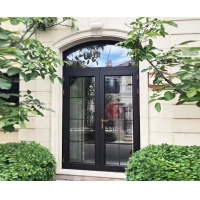 Buy cheap Round Arched Top Aluminum Casement Doors , Retro Exterior Doors With Hinge product