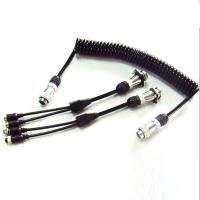 Buy cheap 5 Pin PU Coiled Trailer Cable , Spiral Electrical Cable For Back Rear Camera product