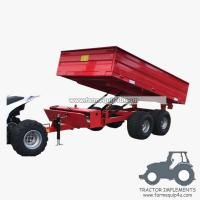 Buy cheap 3TR4WM - 4wheels small tractor trailer dump trailer with moto 3Ton product