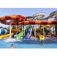 Amusement Fiberglass Enclosed Spiral Slide Aqua Park Equipment For Playing