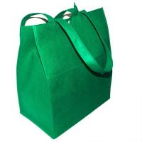Quality Foldable Custom Tote Bags / Purple  Non - woven Cloth Plain Shopping Bags for sale