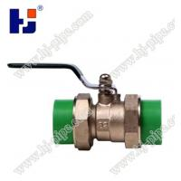 China Plastic pipe fittings PPR brass ball valve with double union on sale