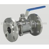 Buy cheap 304 Handle 3 Piece Stainless Steel Ball Valve Food Grade PTFE Sealing Type product