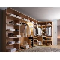 Buy cheap Modern style veneer door designs L-shaped wood clothes closet from wholesalers