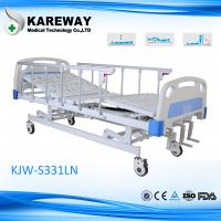 Buy cheap 3 Cranks Manual Type Hospital Care Bed Height Adjustable With Food Dinner Board from wholesalers
