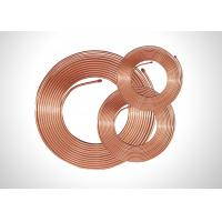 Buy cheap TP2 Soft Copper Pipe Copper Pancake Coil , Refrigeration Copper Pipe 0.35-1.20mm Thick product