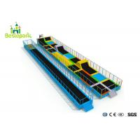 China Kids / Adults Extreme Trampoline Park , Trampoline Center Equipment With Safety Mat on sale