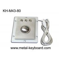 China USB Port Industrial Trackball Pointing Device Dust Proof With 3 Mouse Buttons on sale