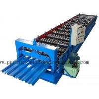 Buy cheap PLC Steel Metal Roof Panel Roll Forming Machine , Roofing Sheet Roll Former 5 Ton product