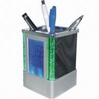 Buy cheap Multifunction Calendar Pen Holder with Temperature, Alarm, Color Light and Countdown Timer product
