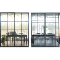 Buy cheap Custom Durable Metal Room Dividers With Glass, Modern Partition Sliding Doors from wholesalers