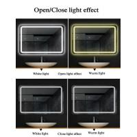 Buy cheap Illuminated LED Bathroom Mirrors , Copper Free Mirror Customized Size product