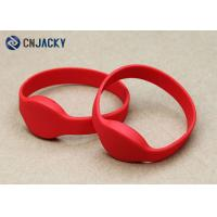 Buy cheap Waterproof NFC Ntag203/213/216 Rfid Wristbands For Events In Red Color product
