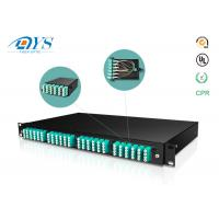 Buy cheap 1U 2U 3U 4U fiber optic management Cassette MPO MTP Patch Panel Fiber Optic High Density Rack Mount product