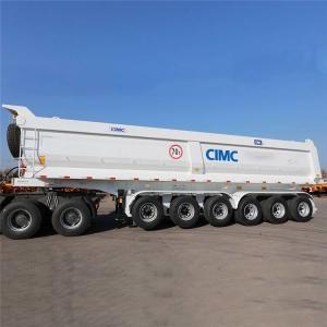 China Mahler Type 6 Axle Rear End Dump CIMC Bulk Tipping Trailer on sale