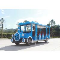 China Blue Electric Sightseeing Car / Electric Shuttle Bus For Amusement Park on sale