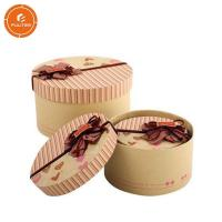 Buy cheap 2 Pieces Paper Gift Packaging Box Glossy Lamination Round Present Packaging Case product