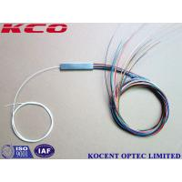 Buy cheap Mini Tube Blockless Type Fiber Optic PLC Splitter 1x16 2x16 0.9mm Pigtail diameter product