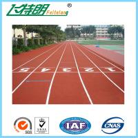 China Skid Resistance Synthetic Sports Flooring / Outdoor Running Track Surface on sale
