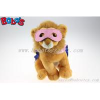Buy cheap Plush Lion Toys Custom Stuffed Lion With 2 Color Eye patch and Printing Logo Cloak product
