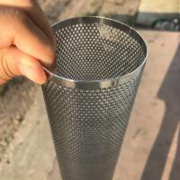 China Perforated Mesh Screen Filter Tube Cartridge / Cylindrical Metal Mesh Filter Screen on sale