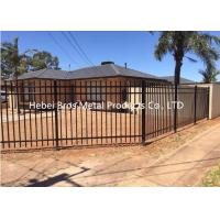 Buy cheap Commercial Zinc Steel Fence , Ornamental Galvanized Steel Tube Fence Panels product