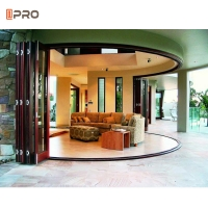 Buy cheap Customized Large Pella Sliding Glass Patio Doors Aluminium Bifold Glass Door product
